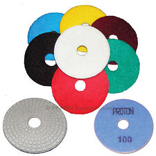 "4"" Wet Diamond Polishing Pads Granite FULL SET AWESOME!"