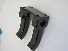 "BLACK  4"" RISE PULLBACK HANDLEBAR RISERS FOR DIGITAL TACH OR SPEEDO HARLEY"