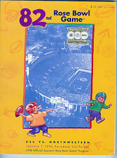 1996 USC Southern Cal Northwestern Rose Bowl football program