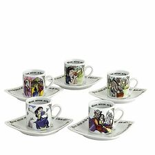 Cardew Design Snow White Tea Party Cup & Saucer (Set of 5)
