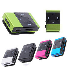 5 Color Mini USB Clip Digital Sport Mp3 Music Player Support 8GB SD TF Card Mp3