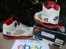 VTG OG Nike Air Jordan 5 (V) 1990 OG (Not Retro) White/Fire Red-Black 8423 5.5Y