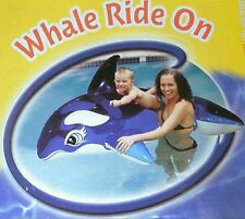 New Inflatable whale pool toy, pool ride on toy whale, Blow up pool toys Aquafun