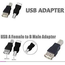USB 2.0 A Female to Printer Scanner Gender Joiner PC Connector Adapter Converter