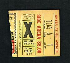 MSG 1958 Nino Valdes vs Alex Miteff Tucker Smith Charles Moulton boxing ticket