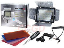 YN160II YN-160 II LED Video Light/Condenser MIC + IR Remote for SLR Camera DV