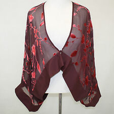 NEW NWT Cocoon House Entwine Sheer Velvet Artisan Short Kimono Jacket Top L/Xl