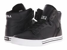 NEW SUPRA VAIDER BLACK WHITE LEATHER 08208-002 HIP HOP SKATEBOARDING SHOES 13