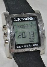 "Famous Trails ""Control Freak"" Remote Control Watch Mint in Box w/Instructions"