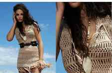 NWT $184 Melissa Odabash Barrie Crochet Dress Cover Up M
