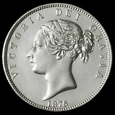 1875 Queen Victoria Young Head Silver Half Crown – UNC