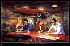 GEORGE BUNGARDA ~ EVENING AT RICK'S 22x34 POSTER Marilyn Monroe James Dean Elvis