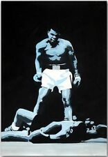 Genuine Oil Painting on Canvas-Muhammad Ali Boxing Art * 100% HAND PAINTED *