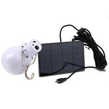 1Pc 15W 130LM Portable LED Bulb Light Charged Solar Panel Energy Lamp Gracious