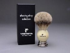 Vestavia's Finest 25mm Silver Tip Badger Shaving Brush - white