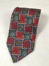 FENDI Gravitate Italy Multi Color Floral Print Silk Neck Tie Mens Silk