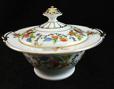 Noritake N275 Pattern COVERED SUGAR BOWL Multicolor Floral Band/Center Mint