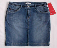 ESPRIT Damen Stiefel Jeans Mini Rock Denim Stretch W28 Neu
