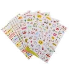 6 Sheets Cute Cats Decorative Stickers Scrapbooking Craft Dairy DIY Card