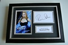 Rosamund Pike SIGNED A4 FRAMED Photo Autograph Display James Bond Film & COA