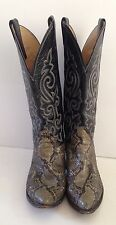 Vintage real snakeskin & leather cowboy western boots by Justin, Sz 5.5 (US7.5B)