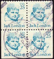 USA 25c Jack London Block4 - Used @RM242