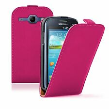 ULTRA Sottile Rosa Flip Case Cover Custodia per Samsung Galaxy Core GT-i8260