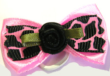 PALE PINK DOG HAIR GROOMING BOWS PACK OF 2 YORKSHIRE TERRIER P8
