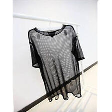 Fashion See through Sheer Mesh Short Sleeve Tee T Shirt Oversize Tops Blouse New