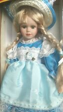 Vintage genuine hand painted porcelain doll, Beauty Romantic, in box, collection