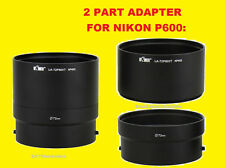 LENS ADAPTER TUBE for CAMERA NIKON COOLPIX P600 P610 72mm, 2 PART ADAPTER 72