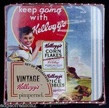 PORTMEIRION VINTAGE KELLOGGS SET 6  COASTERS BRAND NEW BOXED