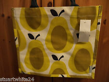 ORLA KIELY YELLOW PEAR PRINT JUTE SHOPPING BAG FROM TESCO - NWT 2016 LTD ED