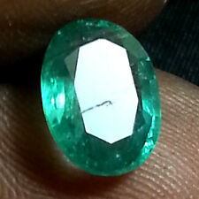 1.50 CT BEAUTIFUL GREEN LUSTER GEM Unheated OVAL Natural ZAMBIAN EMERALD