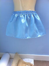 baby blue satin skirt tutu adult baby adult child sissy cd tv fancy dress 36-40