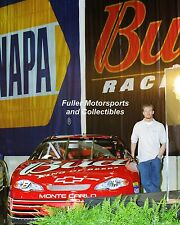 DALE EARNHARDT JR 2001 #8 BUDWEISER CHEVY DEI NASCAR 8X10 PHOTO WINSTON CUP