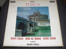 COFANETTO DECCA LXT 5554/5 - PUCCINI TOSCA - TEBALDI/DEL MONACO/LONDON - DOPPIO