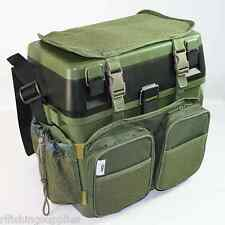 NGT CARP FISHING SEAT BOX SYSTEM + GREEN HARNESS RUCKSACK CONVERTER + SIDE TRAY