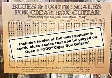 Blues Scales Poster for 3-string Open G (GDG) Cigar Box Guitars - 22-016-18