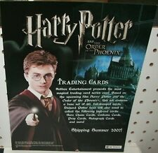 HARRY POTTER ORDER OF THE PHOENIX   TRADING CARDS -SELL SHEET  8 1/2 X 11