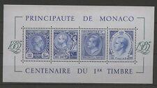 100 Jahre Briefmarken - Monaco - Bl.31 ** MNH 1985