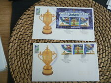 Australia 2003 Rugby World Cup   m/sheet and set fdc