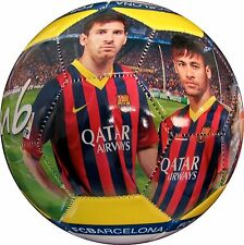 FC BARCELONA SOCCER BALL SIZE 5 OFFICIAL PRODUCT, MESSI NEYMAR SHIPS INFLATED