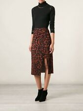 NWT Helmut Lang Skirt Strata Black & Red Print Twist Knot Asymmetric S Small