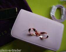 TED BAKER Pale Pink Leather Cross Body Peona Handbag BNWT £99