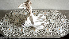 """IVORY PEDALS Lace Doily  27"""" Table  Runner Doily Daisy   Flower Daisies"""