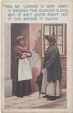 POSTCARD  COMIC BAMFORTH  LIFE MODEL COMIC Series No 1098