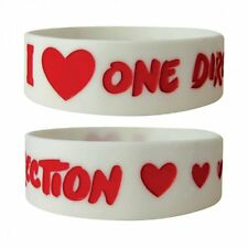 ONE DIRECTION i love/white 2013 rubber WRISTBAND official licensed merchandise