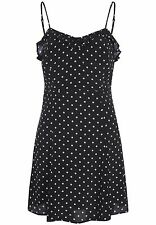 Ladies Black & White Polka Dot Spotted Summer Bardot Dress Size 14 RRP $89.95