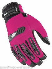 Joe Rocket Velocity 2.0 Motorcycle Gloves Pink Womens Small Touch Screen Fingers